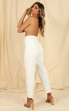 Sheila Jeans In White Denim