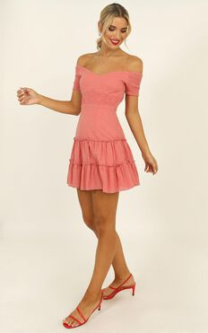 Positano Bound Dress In Coral