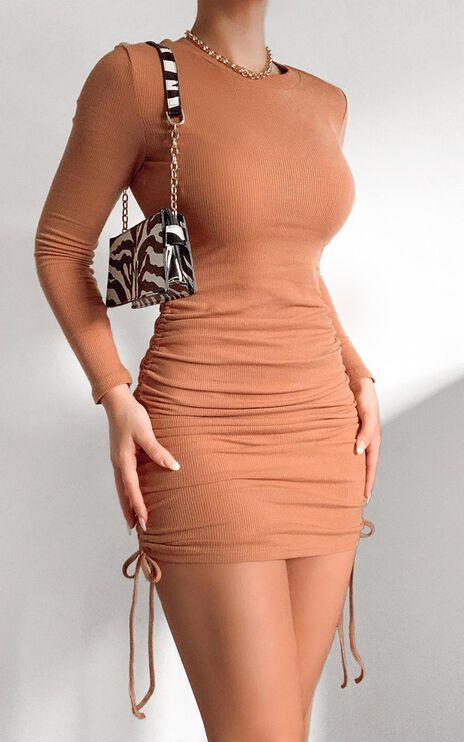 Siusan Dress in Tan
