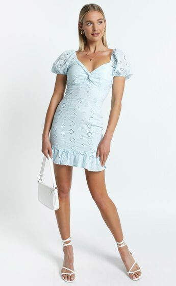 Audley Dress in Blue
