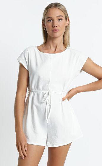 Wisconsin Playsuit in White