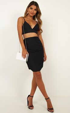 Beneath The Sky Two Piece Set In Black