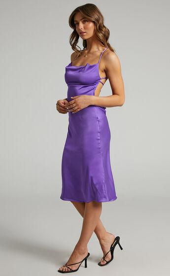 Danielle Bernstein - Evening Stretch Charmeuse Dress in Purple
