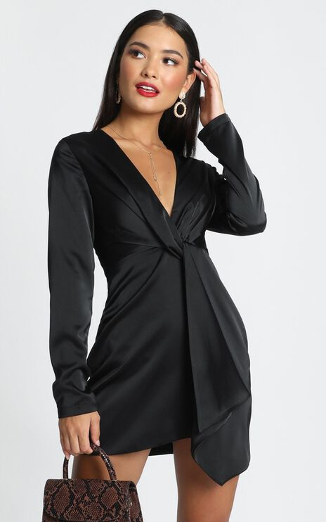 Stop Thinking About It Dress In Black