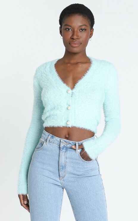 Vegas Baby Cardigan in Ice Blue