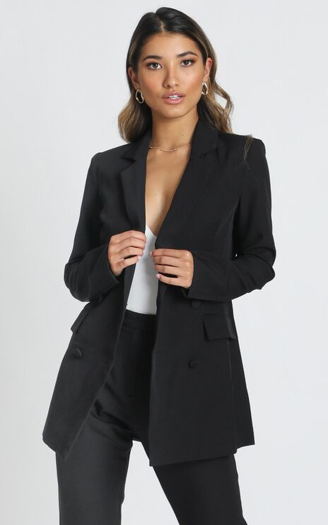 Radiate Confidence Blazer In Black