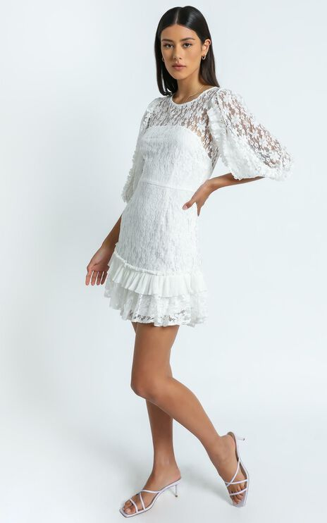Leilei Dress in White