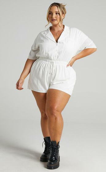 Calanthe Playsuit in White