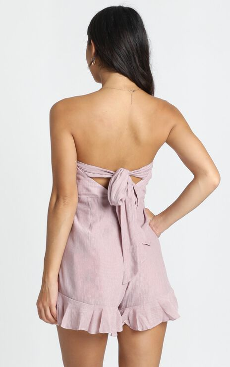 Think Pretty Playsuit In Blush