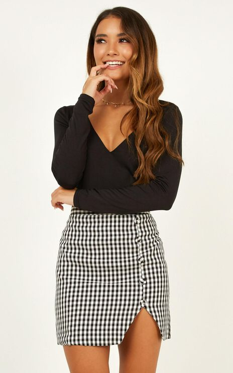 Cancelled Plans Skirt In Black Check