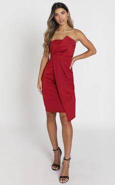 Looking For The Same Thing Dress In Wine