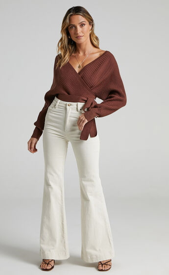 Camry Knit Bodysuit in Chocolate