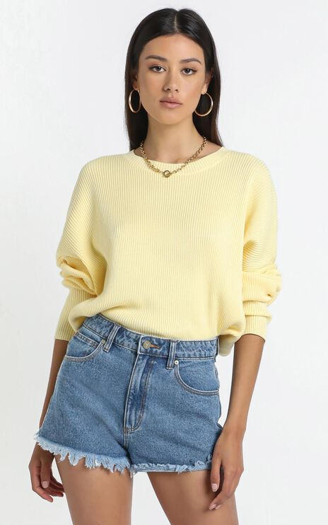 Lullaby Club - Alex Knit Sweater in Lemon