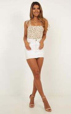 Streets Of Love Bodysuit In Cream Floral