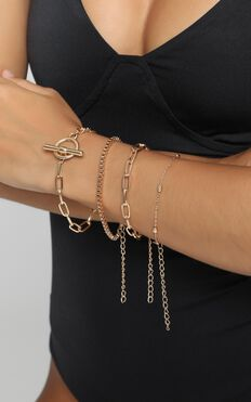 Summer Sound Bracelet Set In Gold