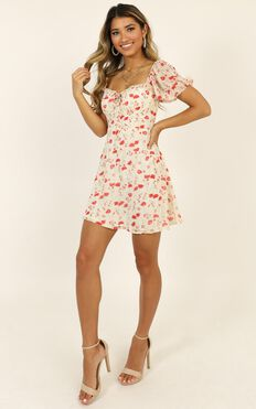 Dance For Me Dress In Rose Floral