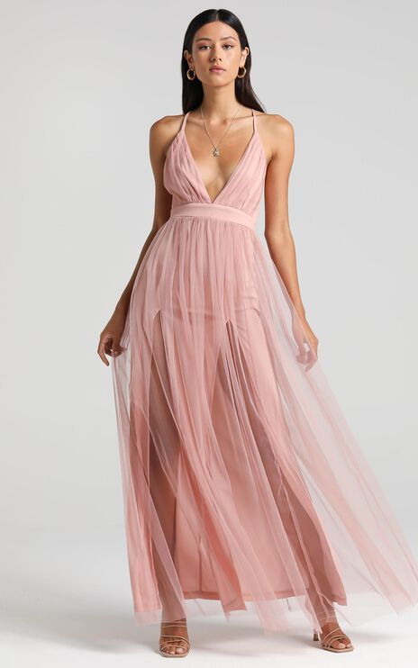 Like A Vision Dress In Blush Tulle