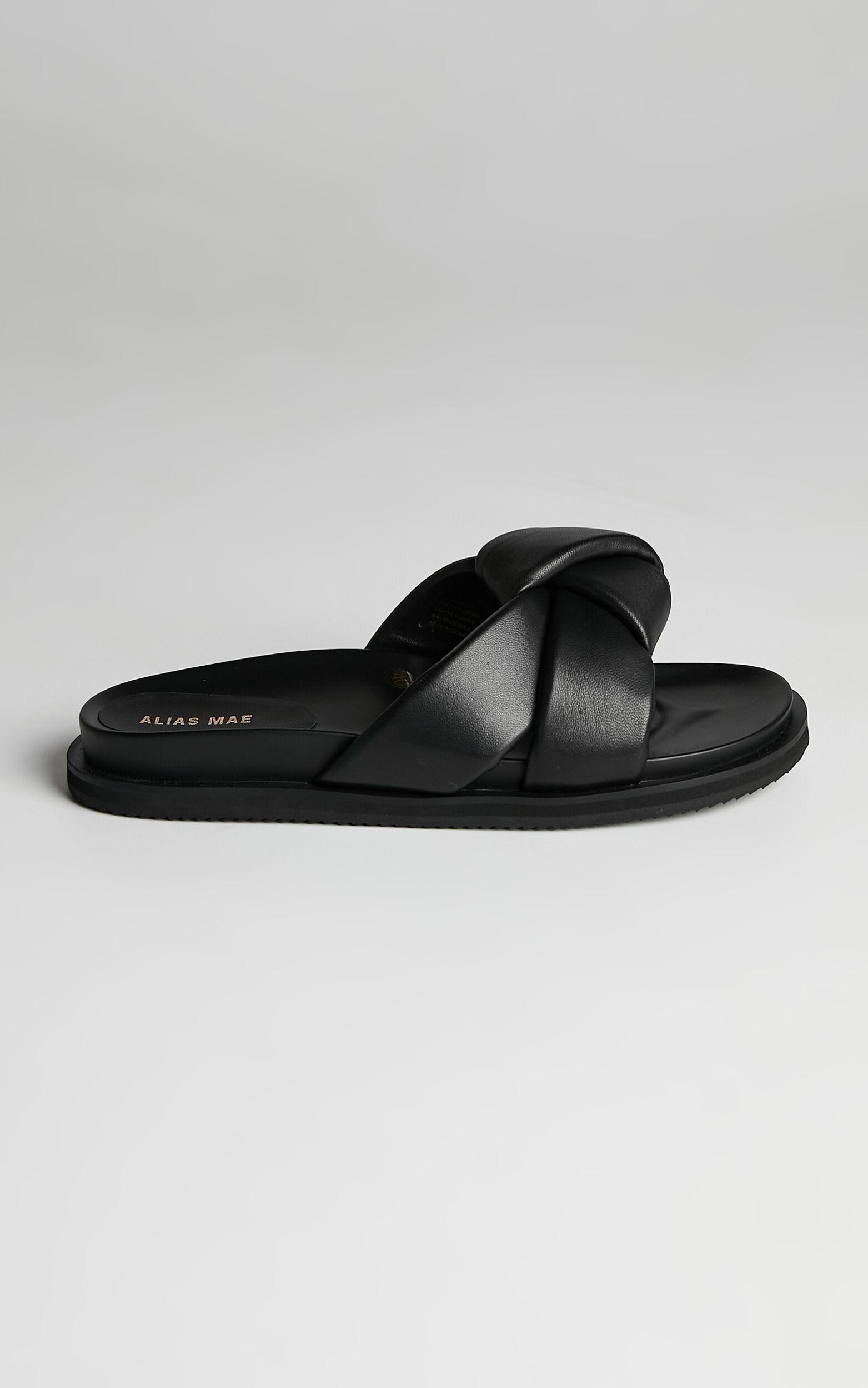 Alias Mae - Sofia Slides in Black Leather - 10.5, BLK1, super-hi-res image number null