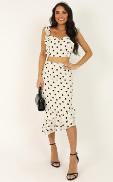 From Me Baby Two Piece Set In White Spot