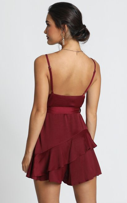 Favourite Song Playsuit In wine - 12 (L), Wine, hi-res image number null