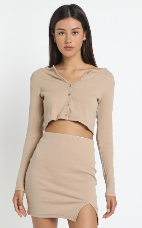 Karah Top in Tan