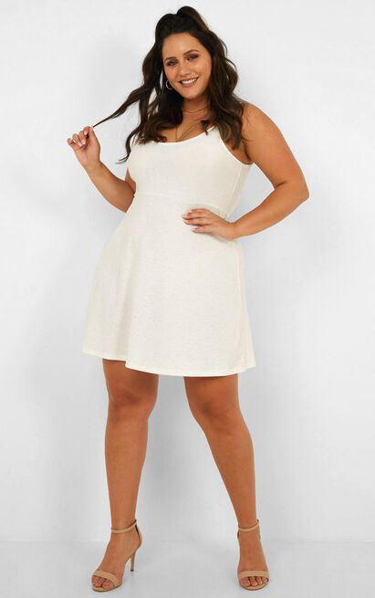About Your Dreams Dress In white marle - 20 (XXXXL), White, hi-res image number null