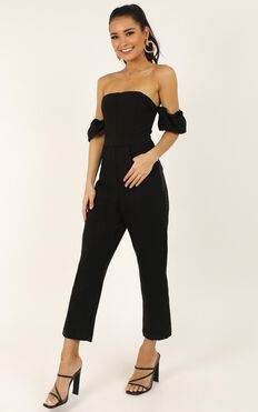 What Do I Have To Do Jumpsuit In Black