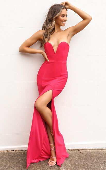 Forgiving You Maxi Dress In berry - 14 (XL), Pink, hi-res image number null