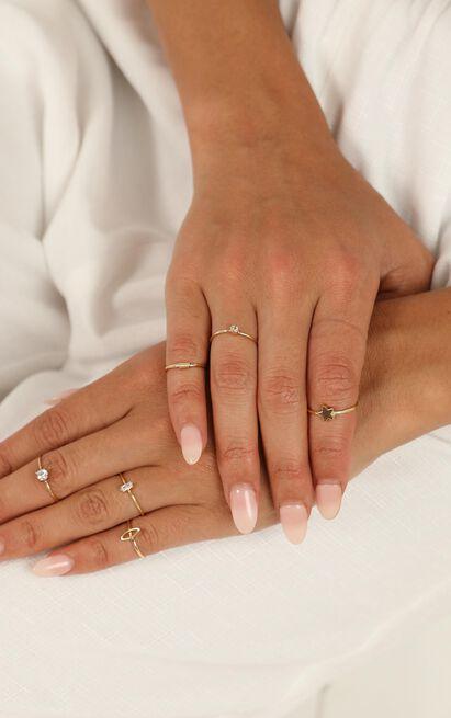 Nervous Energy Ring Set In Gold, , hi-res image number null