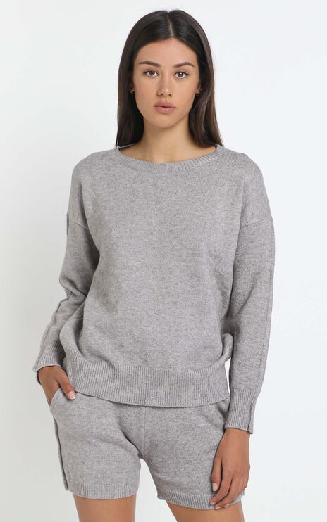 Arcadia Knit Top in Grey