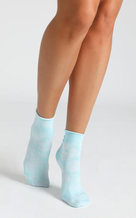 Superga - 3 Pack Cotton Crew Tie Dye Socks In Blue, Light Sky, Pink