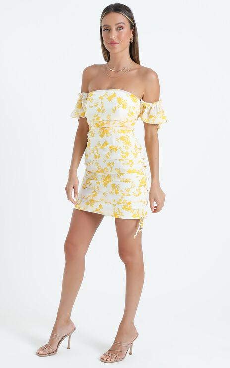 Cant Get You Off My Mind Dress Yellow Floral
