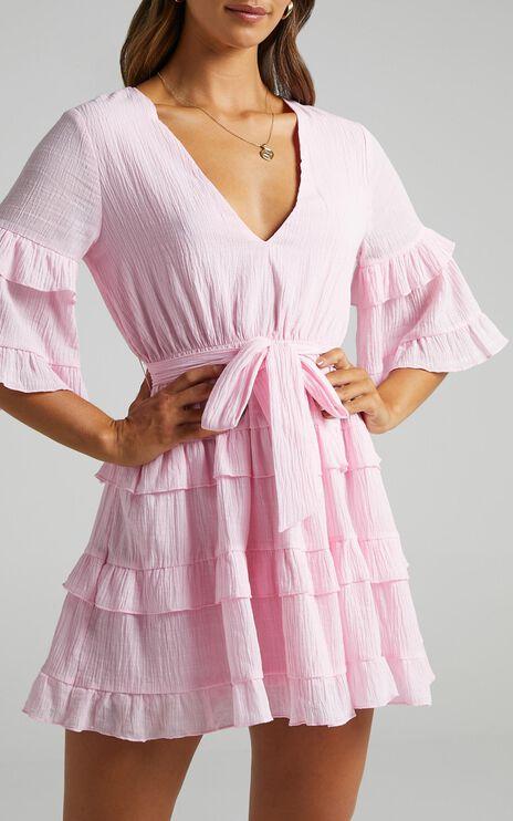 Meet Me In The Sun Dress in Pink
