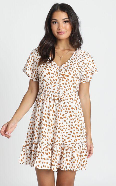 Mylo Dress in Tan Spot