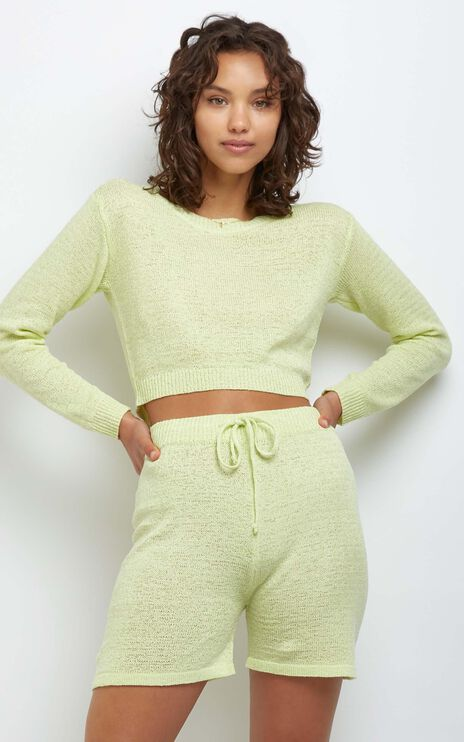 Dacia Knit Top in Yellow