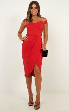 Thank You Next Midi Dress In Red