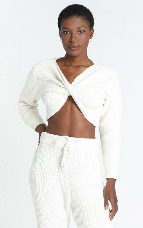 Davina Twist Front Knit in Cream