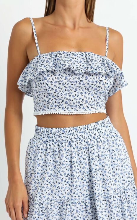 Oonah Two Piece Set in White Floral