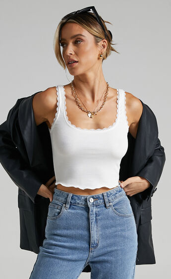 Problem Child Top In White