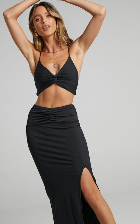 Maddy Two Piece Set In Black