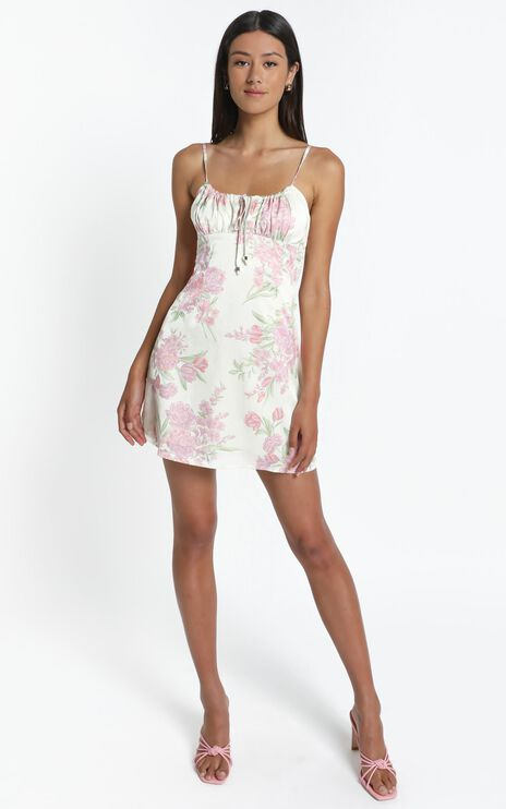 Ive Got You Now Dress in Cream Floral