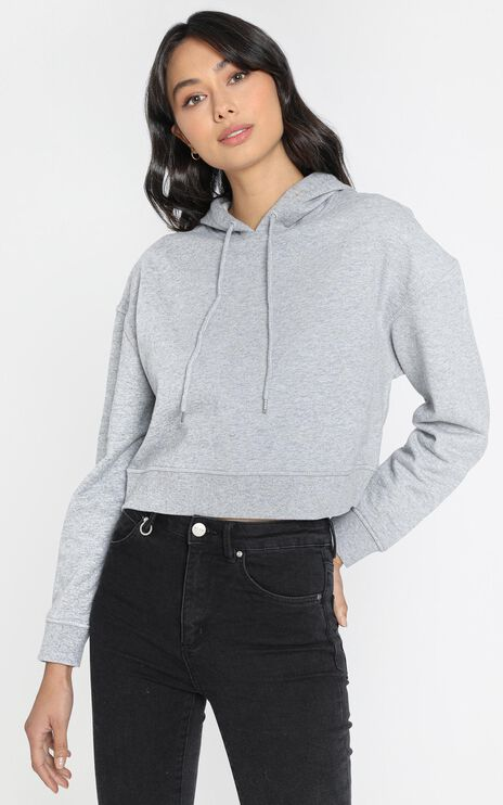 AS Colour - Crop Hood in Grey Marle