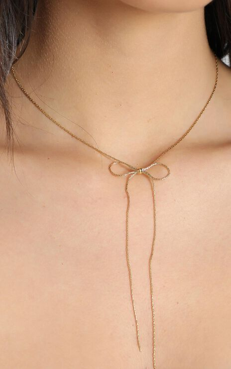Peta and Jain - Sofia Bow Necklace in Gold