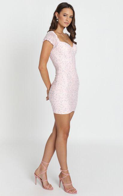 Taking Risks dress in pink print - 12 (L), Pink, hi-res image number null