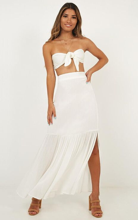 Free Minded Two Piece Set In White