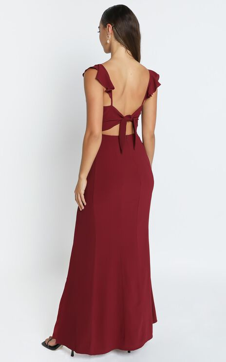 More Than This Dress In Wine