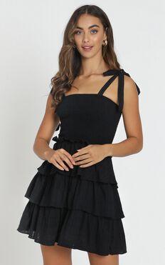 Paislee Tied Dress In Black