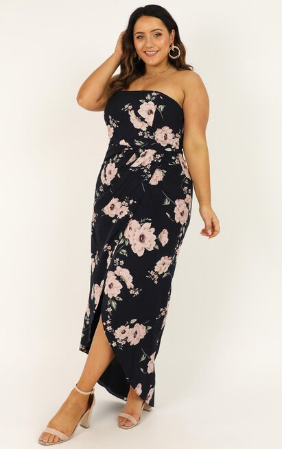 Take It From The Top Dress in navy floral - 20 (XXXXL), Navy, hi-res image number null