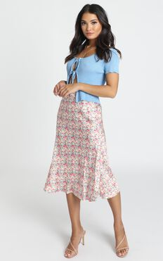 Lasting Love Skirt In Multi Floral