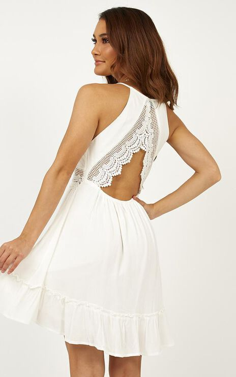 Aint No Stopping Dress In White